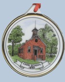 Cook School House Ornament