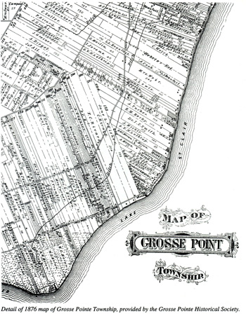 Early Map of Grosse Pointe