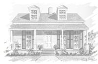 Provencal Weir House drawing